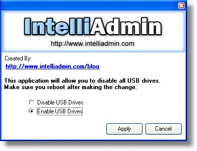 USB Drive Disabler screenshot